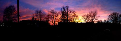 sunset panorama silhouette