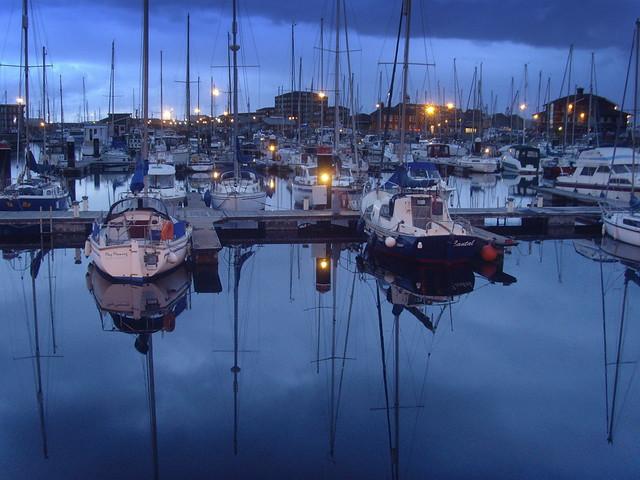 Blue Hartlepool Marina