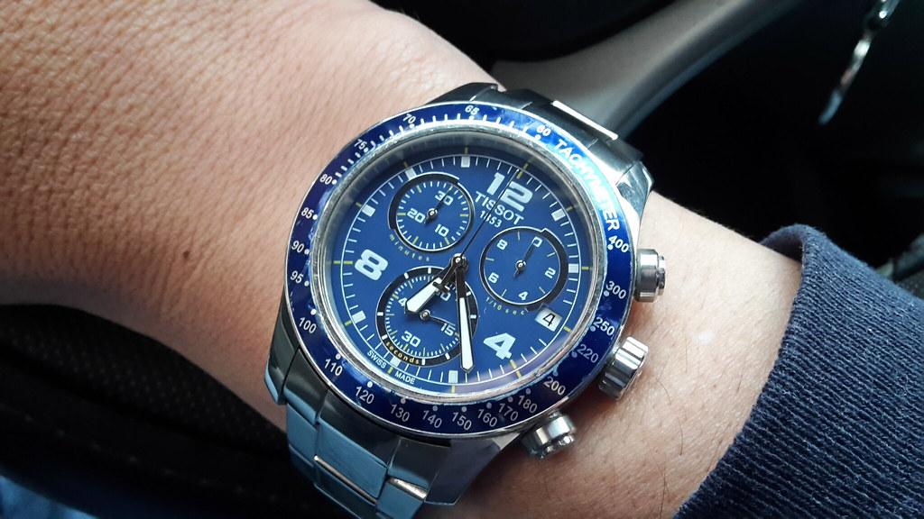 Tissot T Sport V8 Blue Dial Stainless Steel Men S Watch T0 Flickr
