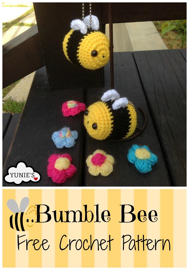 Free Crochet Bee Pattern - Grace and Yarn | 903x630