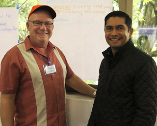 Thu, 11/10/2016 - 11:29 - COIL partners Joe Ziolkowski, GCC's assistant professor of Photography and Art, and Dr. Carlos Flores from the University of Colima
