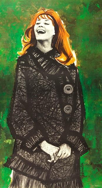 Jeanne Moreau (artist - Christian Broutin)