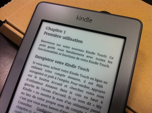 Kindle tactile d'Amazon déballage