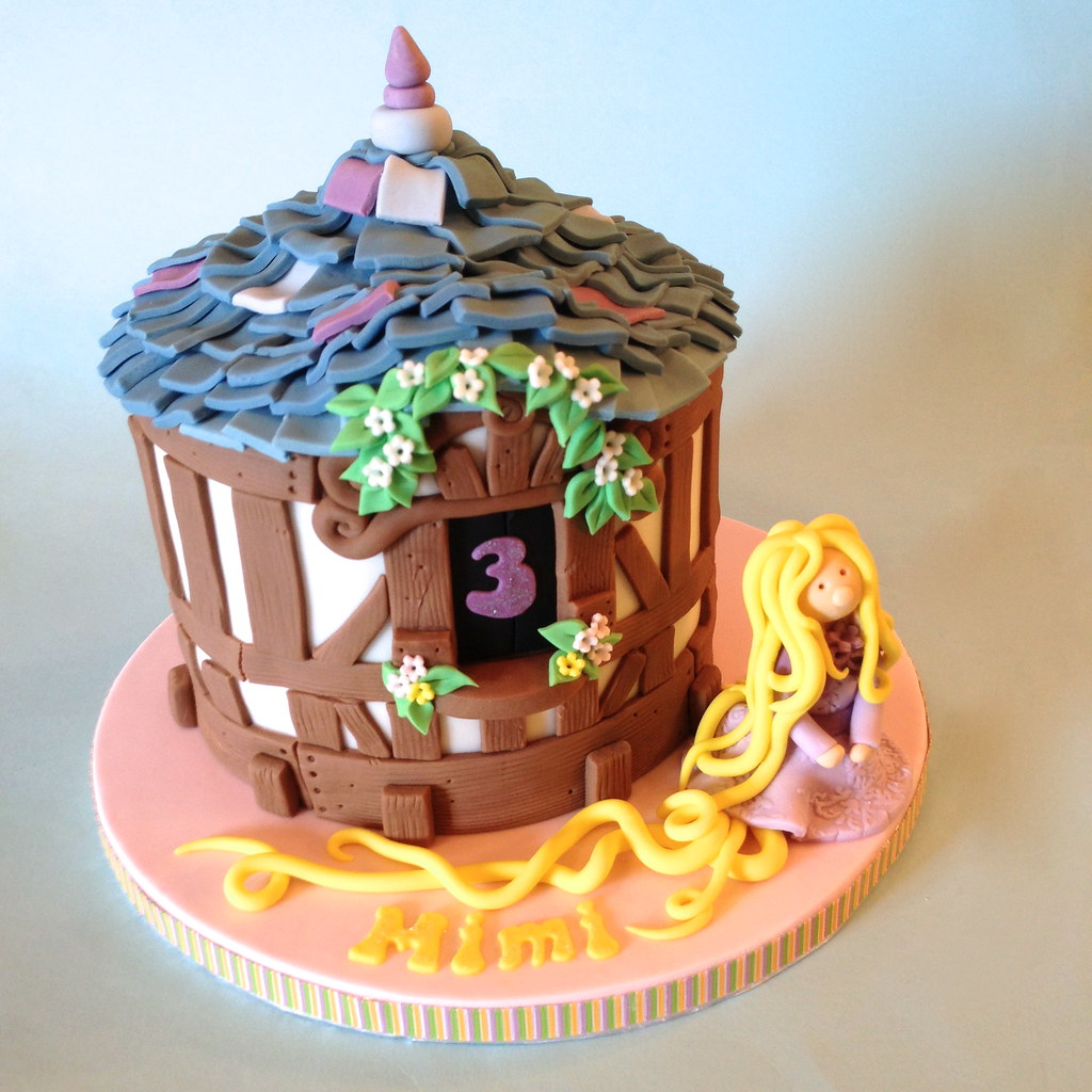 Cool Tangled Rapunzel Birthday Cake A Birthday Cake Inspired Flickr Funny Birthday Cards Online Overcheapnameinfo