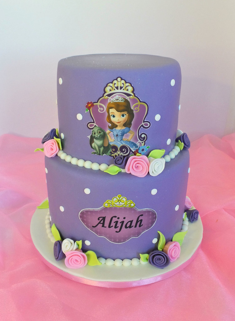 Incredible Princess Sofia Birthday Cake Design Was Brought In By Clie Flickr Birthday Cards Printable Benkemecafe Filternl