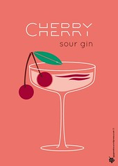 Cherry sour gin poster