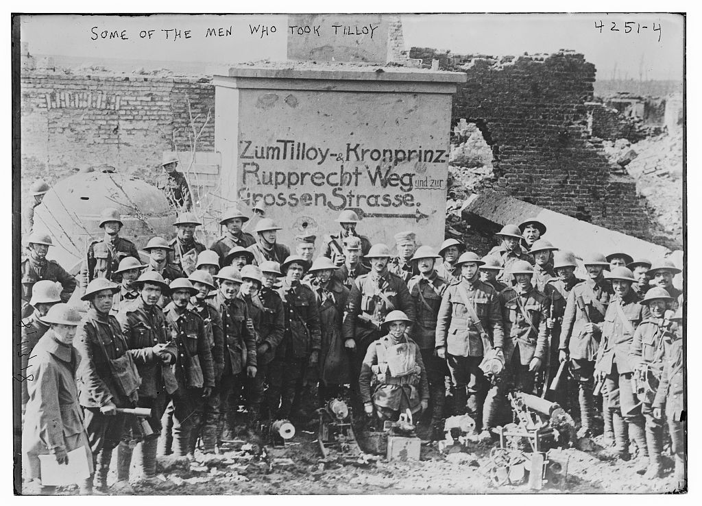 Some of the men who took Tilloy (LOC)