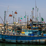 Fishing boats at the Oluvil Port