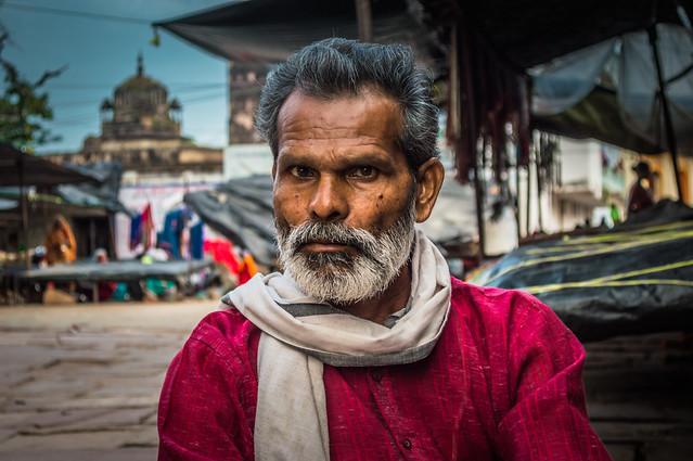 An old man in Orchha Village, Madhya Pradesh