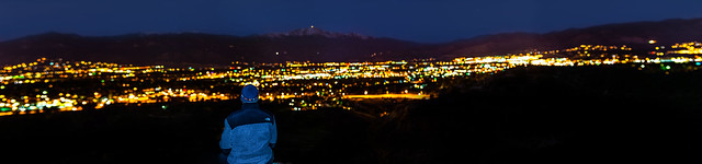 Bokeh Panorama of Colorado Springs