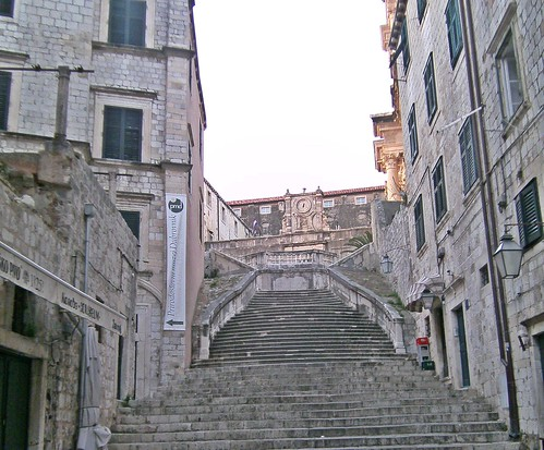 Stairs going up to Pljana R Boskovica Dubrovnik Croatia | by amanderson2