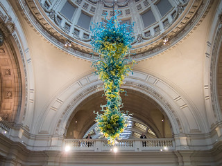 Dale Chihuly sculpture in Victoria and Albert Museum   by randyc9999