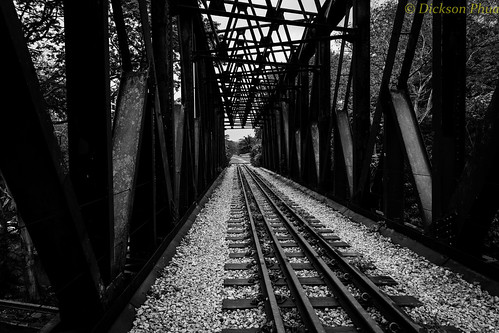 road park bridge bw white black station ties singapore iron track king albert rifle tracks corridor rail railway ktm adobe preserved sg range bukit timah ballast lightroom sleepers pagar tanjong
