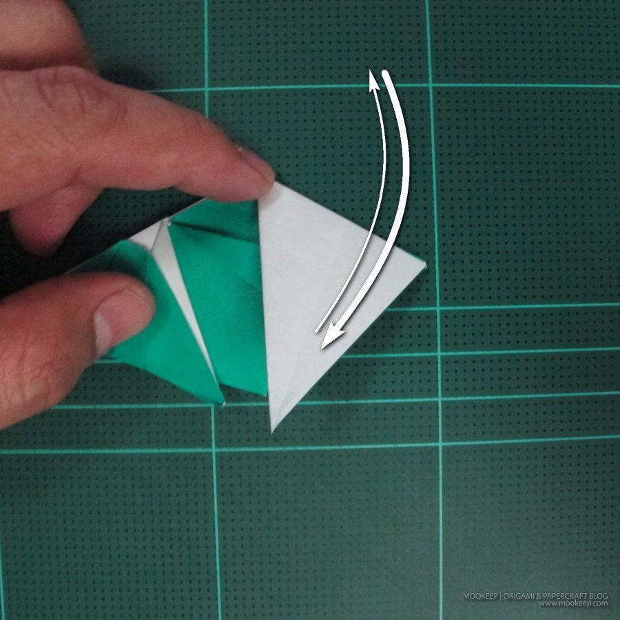 วิธีพับกระดาษเป็นรูปหมู (Origami Pig) 025