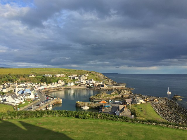 View from hotel portpatrick