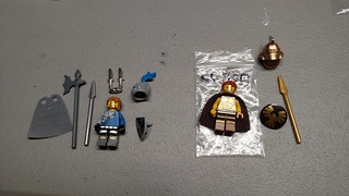 Merlin's Beard, winter spring Minifigures jambalaya.  Gives on left, takes on right. | by brynjadiss