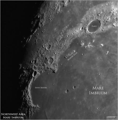 tomwildoner leisurelyscientistcom leisurelyscientist mareimbrium sinusiridum plato crater moon lunar widefield asi290mc zwo meade lx90 celestron cgemdx sharpcap autostakkert astronomy astrophotography astronomer space solarsystem science nature weatherly pennsylvania nightsky night