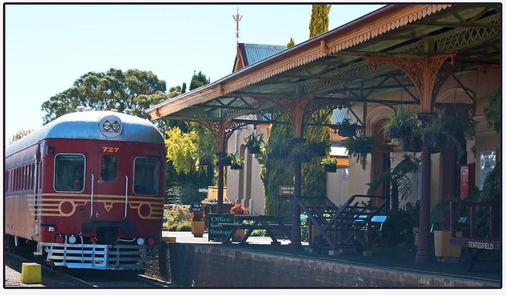 At Tenterfield Station by Leonard J Matthews