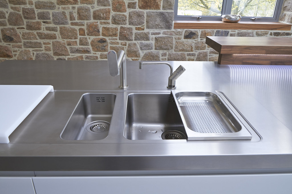 Bulthaup B1 Stainless Steel Worktop With Bulthaup Sinks An ...
