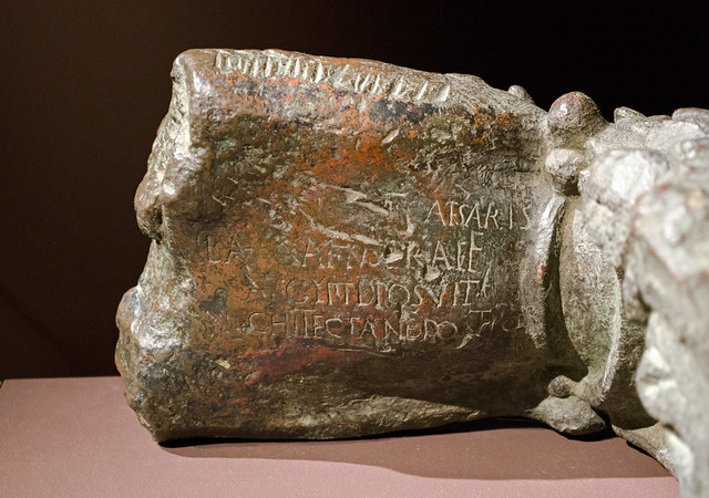 Latin-inscribed bronze crab claw, formerly supporting Cleopatra's Needle