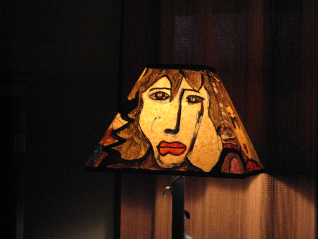My painted lampshade