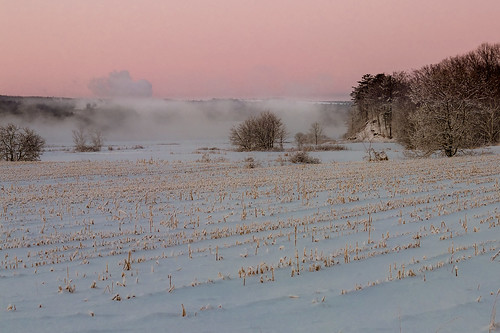 morning winter mist snow field river novascotia portwilliams cornwallisriver fujix10