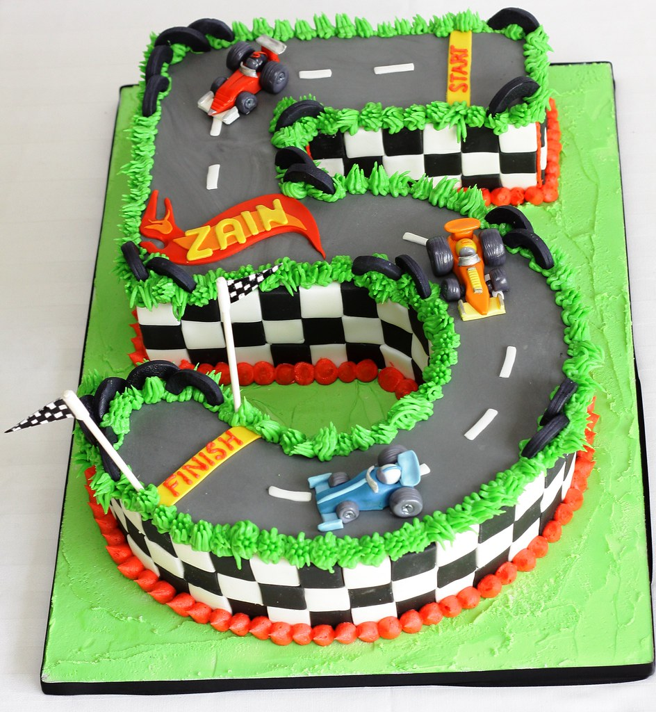 Remarkable Hotwheels Styled Race Car 5Th Birthday Cake Geraldine Horton Funny Birthday Cards Online Chimdamsfinfo
