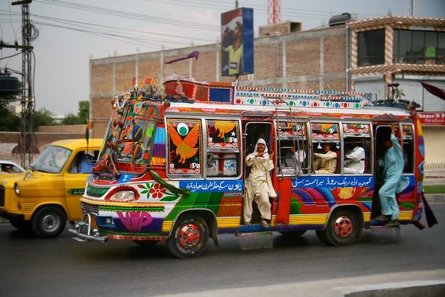 IMG_9241 Pakistan Peshawar colourful public bus