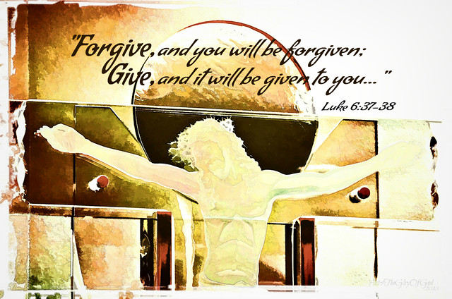 Forgive/Give ~ digital paint effect