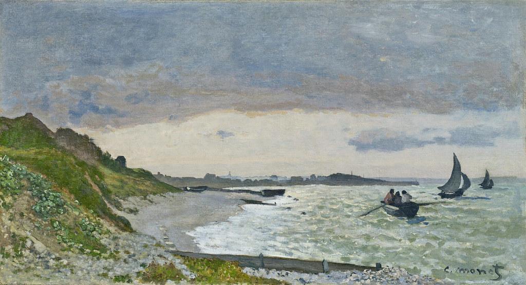 Monet - Bord de la mer à Sainte-Adresse [1864] | W 022 Claud… | Flickr