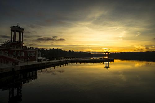 nikon d3s sunrise lake water morning