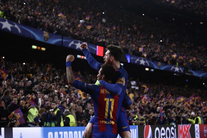 Lionel Messi與Neymar。(達志影像資料照)