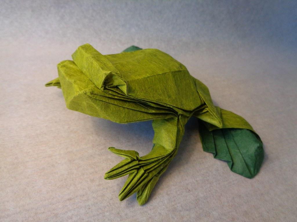 Origami bullfrog Roman Diaz 🐸 - YouTube | 768x1024