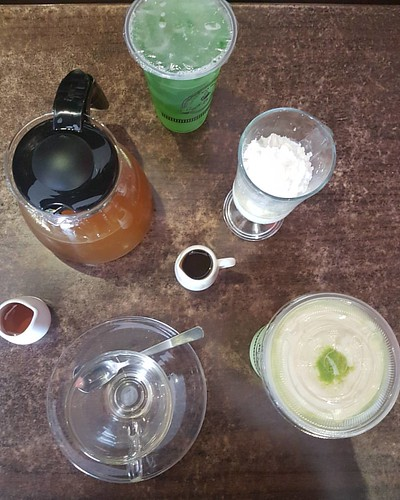 Taking a break w/ Caffe La Tea selections of drinks - matcha, lenon grass, affogato, frappe and so much more to choose. | by Jinkee Umali