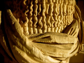 Sensuality in stone, statue fragment.