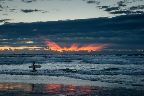 morning sea sky sunrise surfer minamiboso