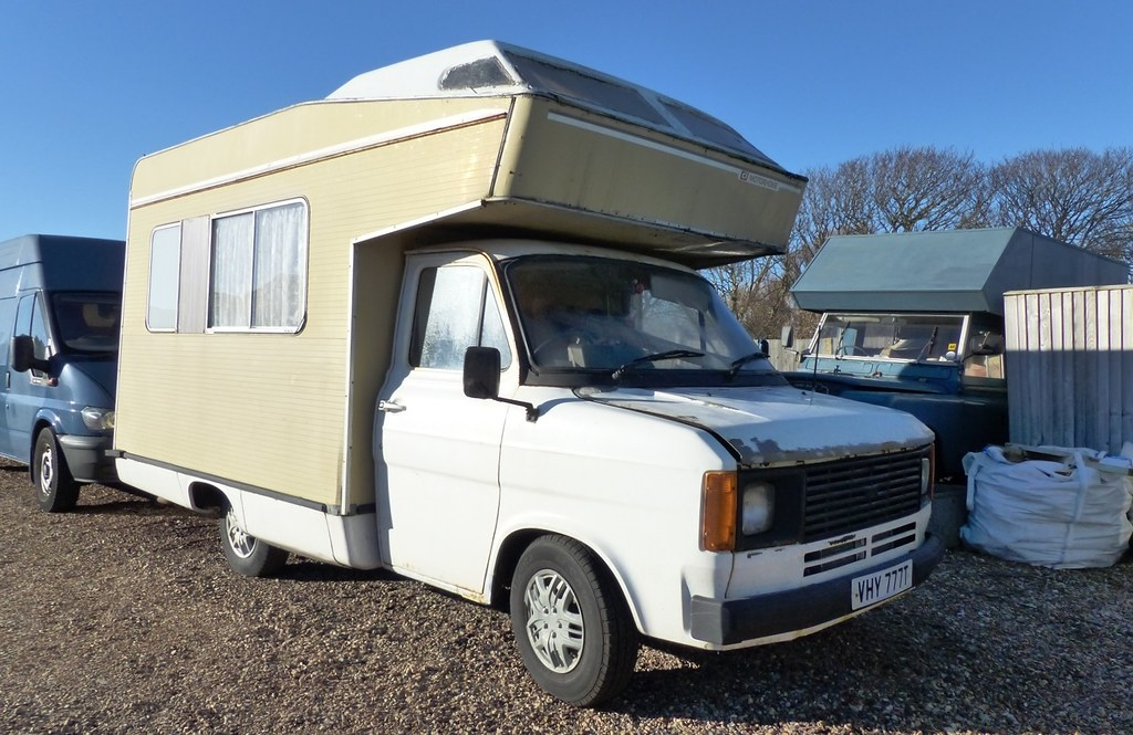 Ford Transit Mk2 CI Motorhome 1979 | Seen at Pevensey East S