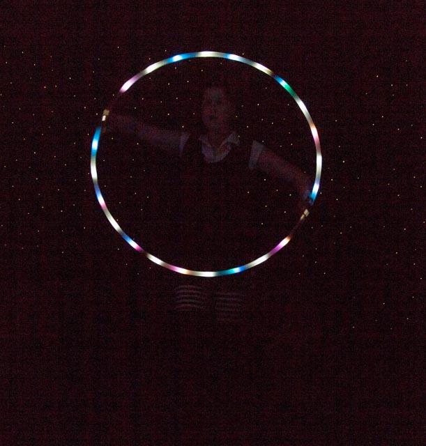 Lighted hoop dance