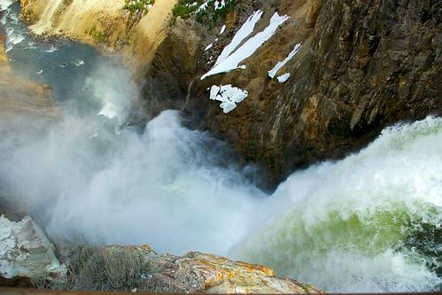 usa nature water river landscape pentax falls yellowstonenationalpark yellowstone wyoming lowerfalls yellowstoneriver ynp brink k110d travelgeotagged