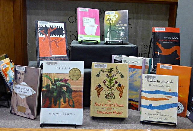 WSC Library book display: Poetry