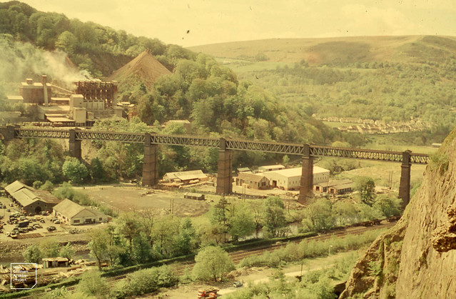Taff's Well viaduct from Castell Coch, May 1960s