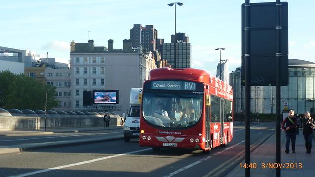P1180266 WSH62997 LF63 XZU at Waterloo Bridge South Bank Waterloo London