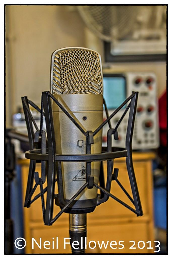shock proof c1 my behringer c1 condenser microphone set up flickr. Black Bedroom Furniture Sets. Home Design Ideas