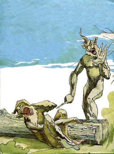 Шурале. Иллюстрация Байназара Альменова к одноименной сказке ... | 500x369