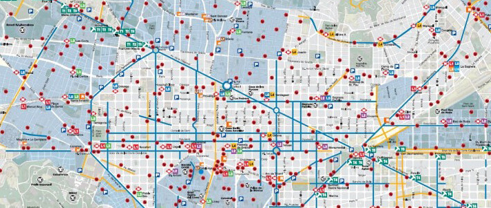 Mapa Carril Bici Barcelona.Mapa Carril Bici Barcelona Biciciudad Flickr