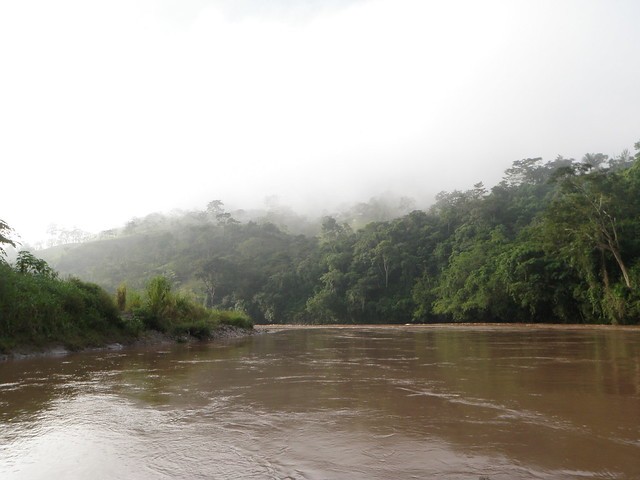 View up the Oxalatan river