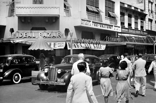 Escolta Street, Manila, Philippines, Oct.-Nov. 1940