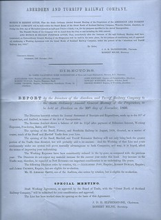 Aberdeen and Turriff Railway Director's report 1860   by ian.dinmore