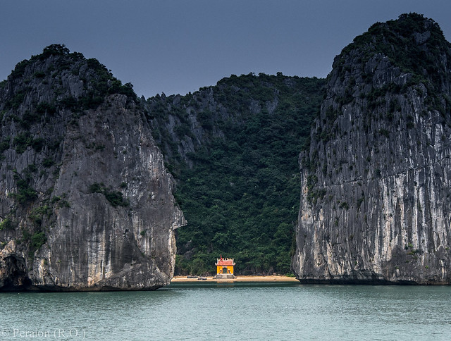 Tucked away among rocks, Halong Bay, Vietnam (Thank you for the over 53,500 views!)
