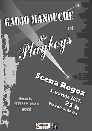 """Gadjo Manouche"" i ""The Playboys"" u Scena & Bar Rogozu"